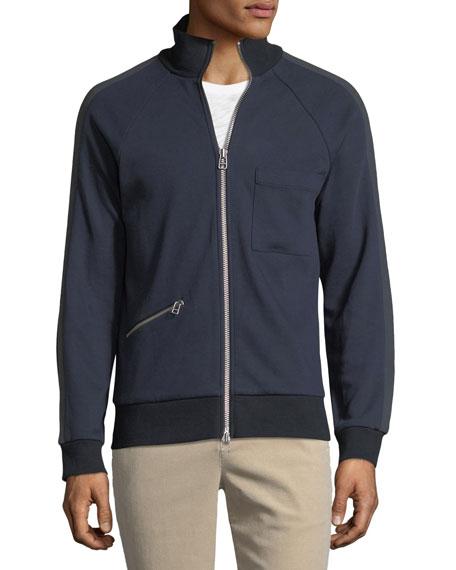 Double-Knit Zip-Front Sweatshirt