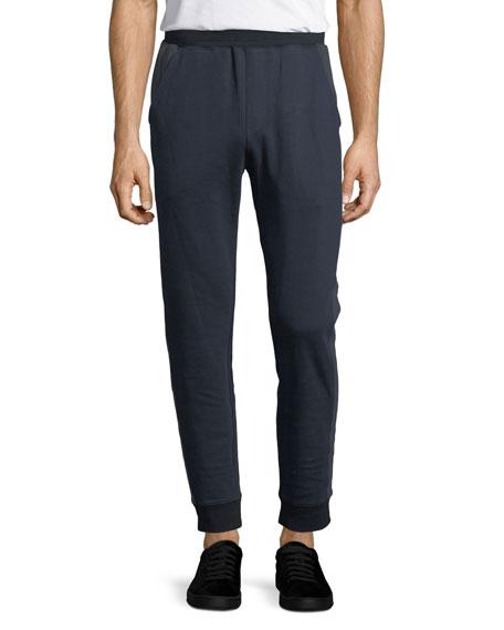 Double-Knit Cotton Jogger Pants