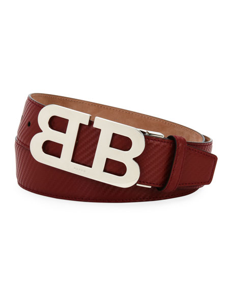 Bally Mirror B Carbon Leather Belt