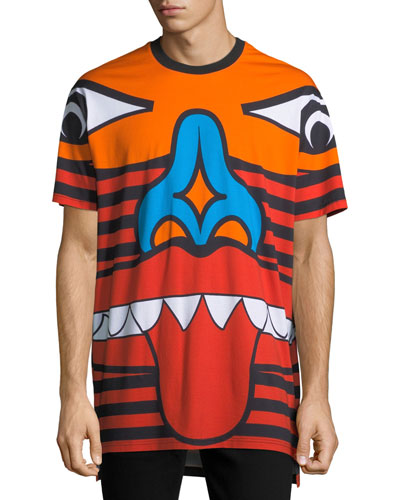 Columbian-Fit Totem Print T-Shirt