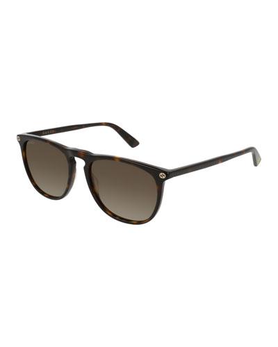 Acetate Pantos Sunglasses, Dark Brown