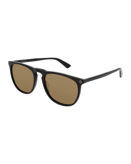 Gucci Acetate Pantos Sunglasses, Black