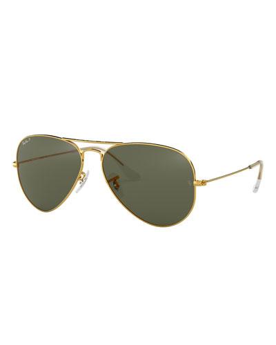 Men's Metal Polarized Aviator Sunglasses