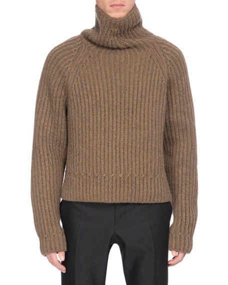 Chunky Cashmere Turtleneck Sweater