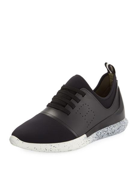 Men's Avro Leather & Neoprene Trainer Sneakers, Black