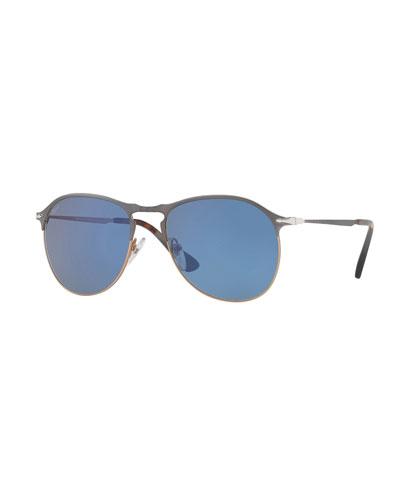 PO649S Polarized Aviator Sunglasses