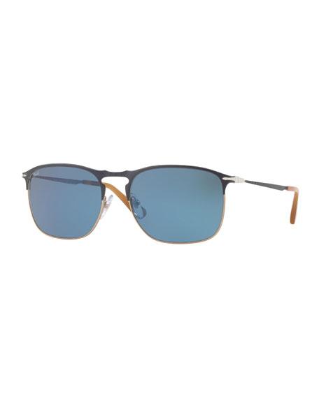 PO7359S Polarized Rectangular Sunglasses