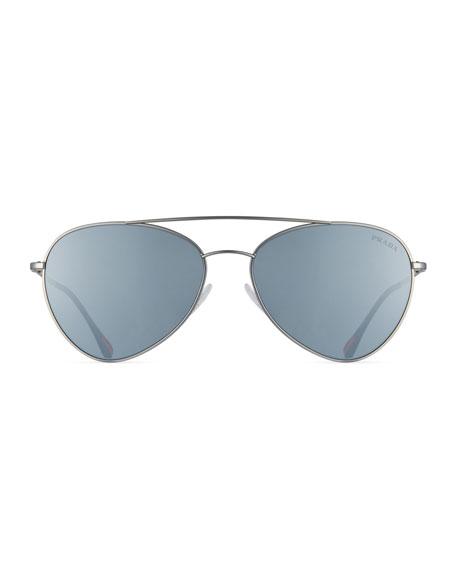 Linea Rossa Men's Spectrum Pilot Sunglasses, Gray