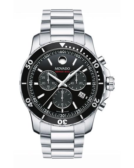 Series 800 Chronograph Watch, Gray/Black