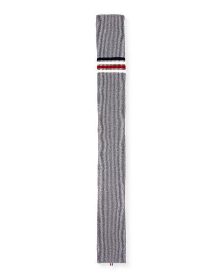 Half Cardigan Stitch Striped Scarf