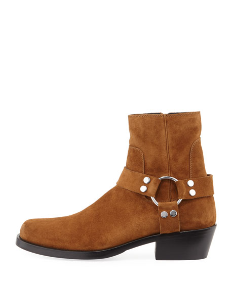 Men's Suede Harness Boot