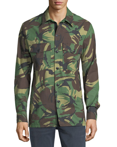 Heath Camouflage Shirt Jacket
