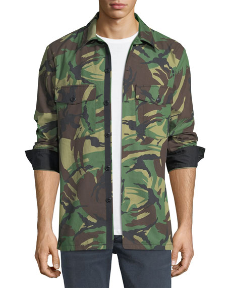 Heath Camouflage Shirt Jacket