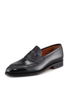 Principe Leather Penny Loafer, Black