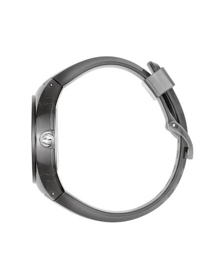 46mm Gucci Sync Sport Watch w/ Rubber Strap, Gray