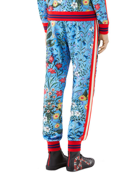Gucci FLORAL JOGGER Best Mens Patterned Joggers