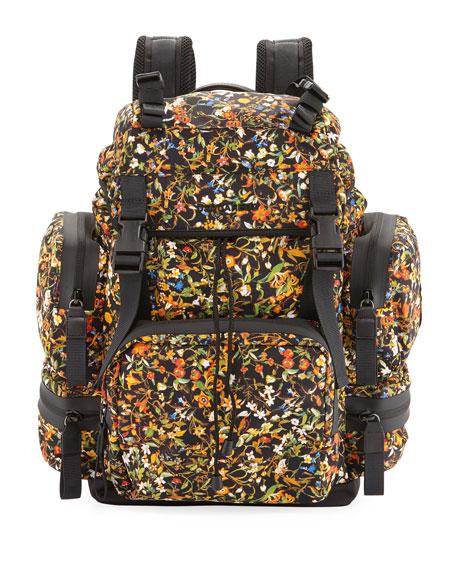 Men's Akira Floral-Print Backpack