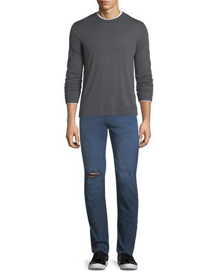 Tyler Torn & Thrashed Denim Jeans, Asphalt