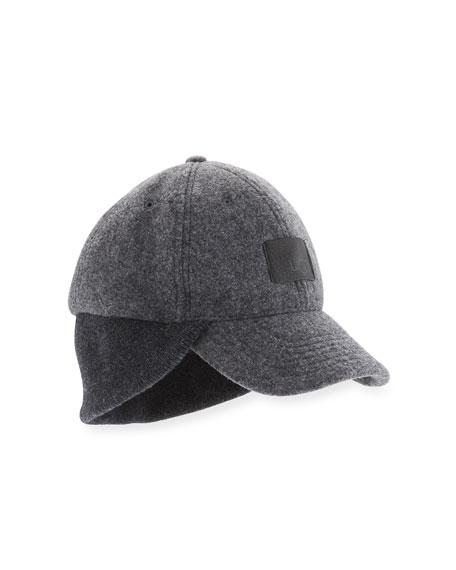 Wool Knit-Trim Baseball Hat