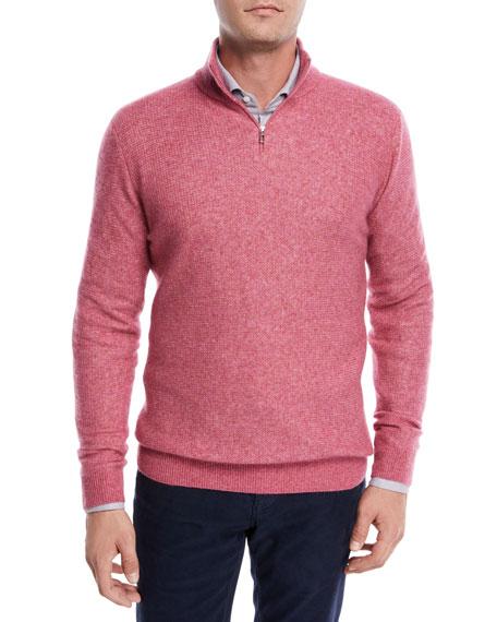 Cashmere-Silk Quarter-Zip Sweatshirt