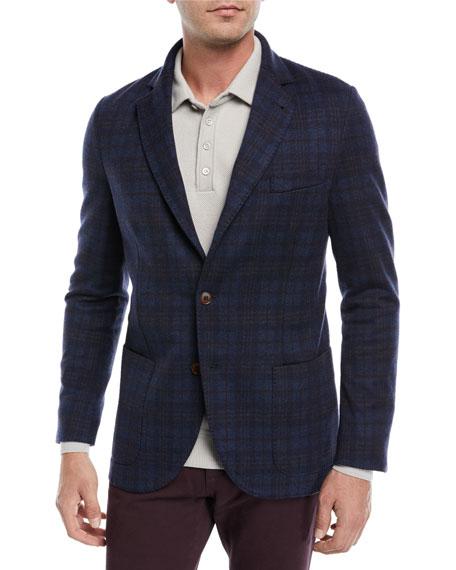 Overcheck Knit Sport Coat
