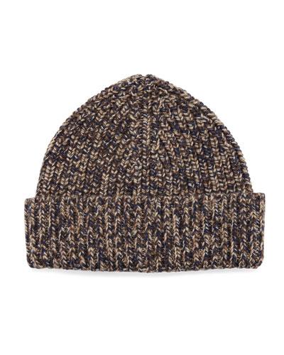 Cashmere Marled Beanie Hat