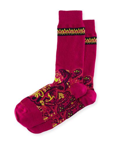 Short Paisley Socks