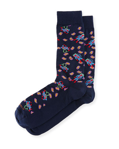 Astronaut Paisley Socks