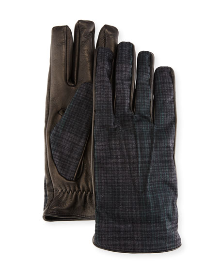 Etro Tessuto/Napa Leather Gloves