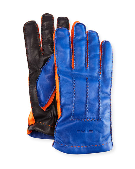 Etro Tricolor Napa Leather Gloves