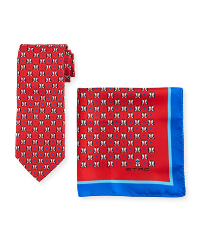 Penguins Boxed Tie & Pocket Square Set