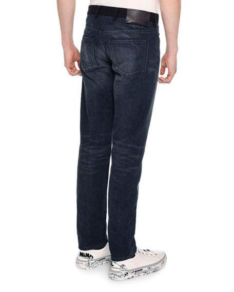 Contrast Waistband Skinny 5 Pocket Jeans
