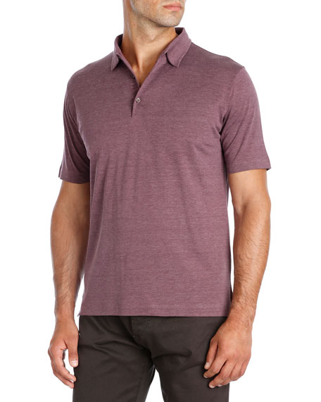 Pelleovo Silk-Cotton Polo Shirt