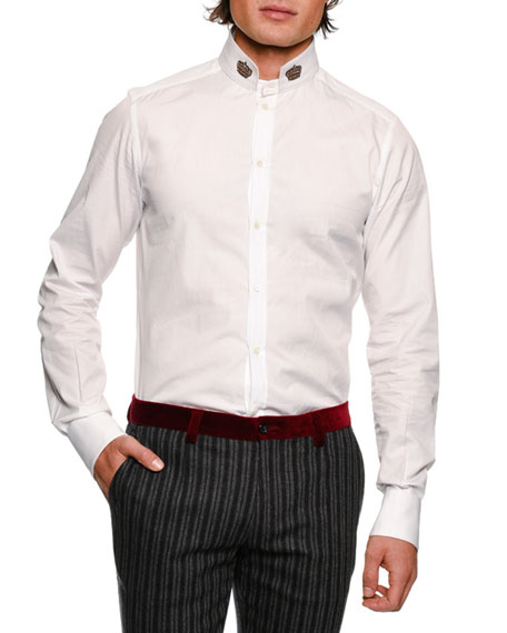 Crown-Collar Cotton Shirt