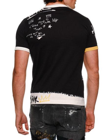 Royal Scribble Crewneck T-Shirt