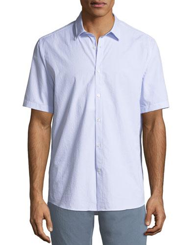 Textured Cotton Short-Sleeve Sport Shirt