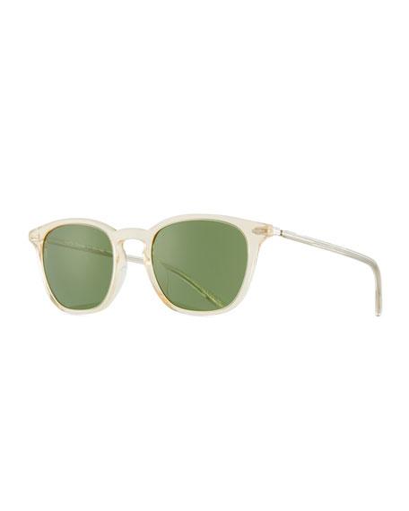 Heaton Square Acetate Sunglasses, Buff/Green