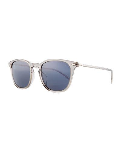 Heaton Square Acetate Sunglasses  Gray/Blue
