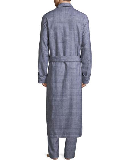 Ranga Long Brushed Cotton Robe