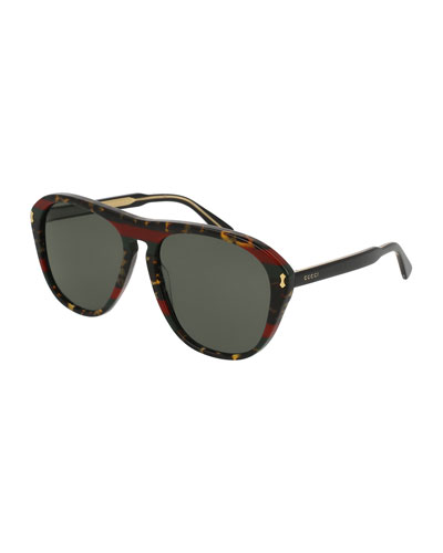 Men's Acetate Aviator Sunglasses