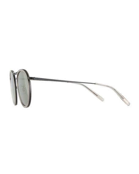 MP-3 30th Anniversary Round Sunglasses, Dune/Gray Goldtone