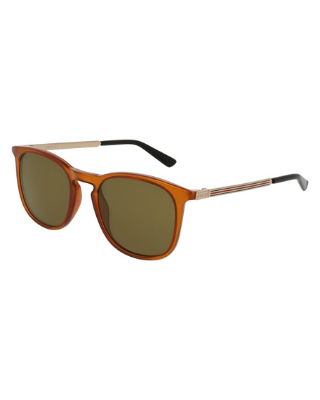 Men's Square Optyl Web Sunglasses, Yellow