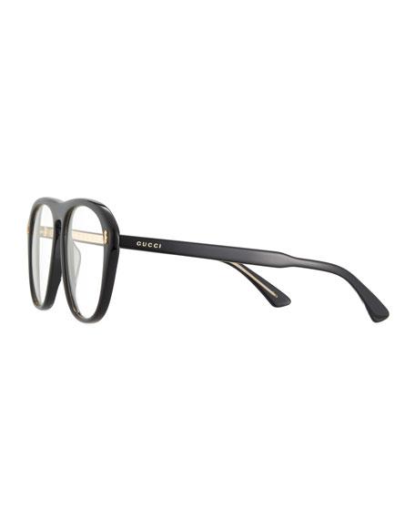 Gucci Men\'s Acetate Aviator Optical Frames w/ Sunglasses