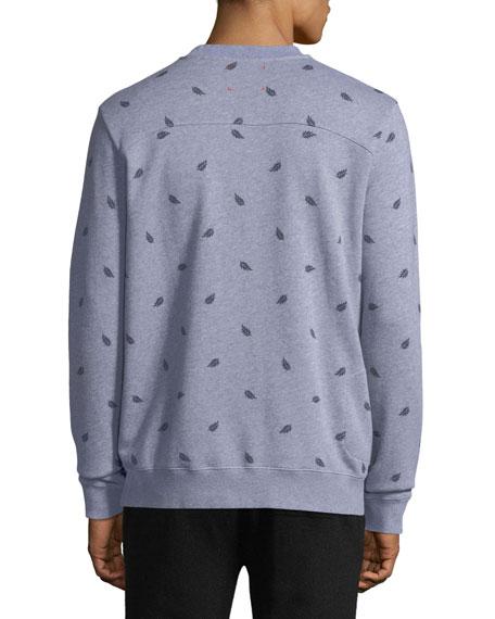 Cornwall 3 Leaf-Print Cotton Sweatshirt
