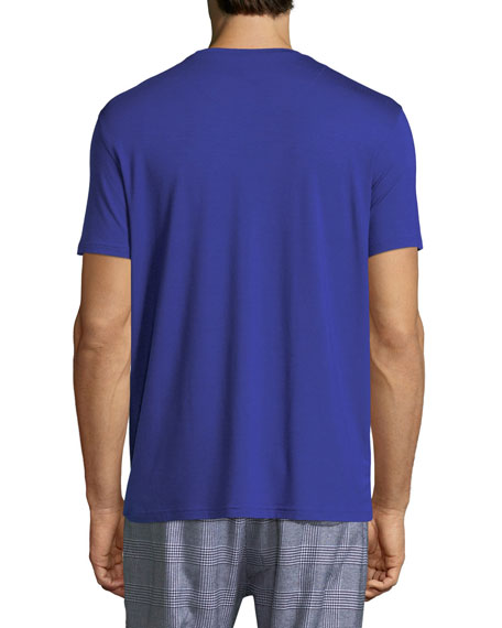 Basel 3 Crewneck Lounge T-Shirt, Blue