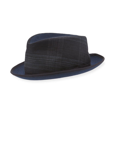 Mixed-Media Fedora Hat