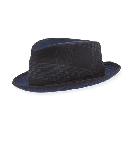 Mixed-Media Fedora Hat