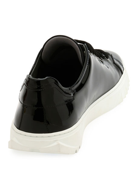 Patent Leather Low-Top Sneaker