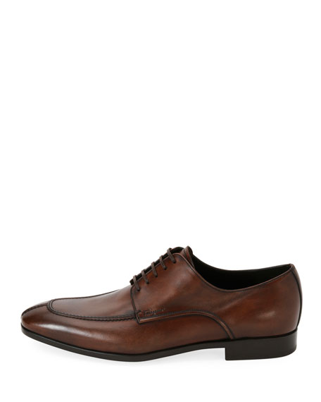 Men's Calfskin Split Toe Blucher Lace Up