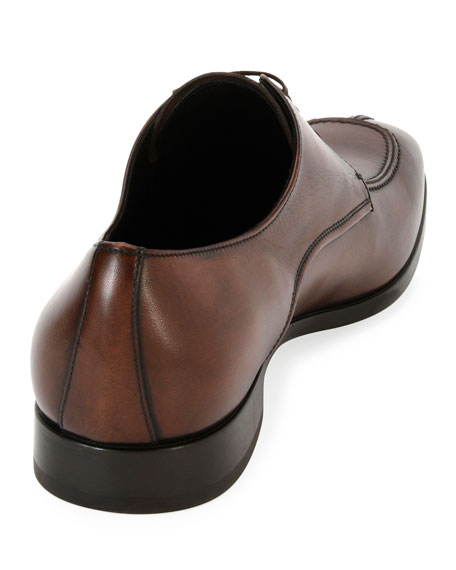 Calfskin Split Toe Blucher Lace Up
